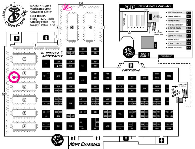 Emerald City Comic-Con 2011 Floor Map